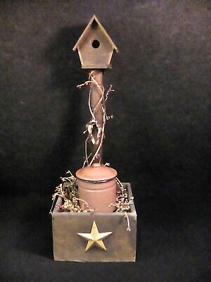 handmade wooden primitive rustic decoration birdhouse country deco