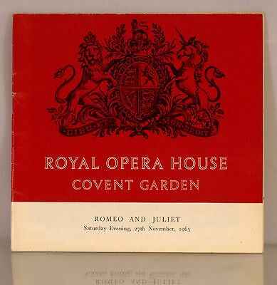 Royal Opera House Covent Garden Programme – Romeo and Juliet 1965