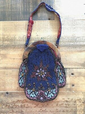 Antique (1925), Hand-Beaded Purse - In Need of TLC