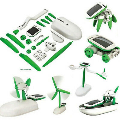 Power DIY Robot Educational Products Games 6in1 Solar Power Toys Grown-Up