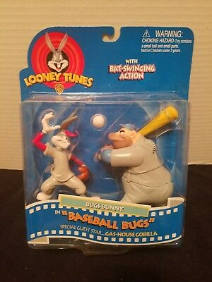 Baseball Bugs Bunny with Gas-House Gorilla Action Figure Action Figures - NIB