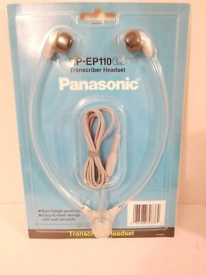 Panasonic RP-EP-110 TRANSCRIBER HEADSET NEW IN ORIGINAL PACKAGE FREE SHIPPING