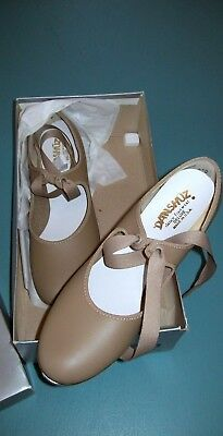 NEW  Danshuz 5.5 Med, Tan, Style 543, Tap Shoes, fast ship USA