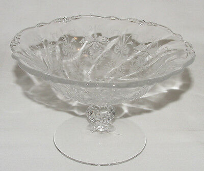 "PERFECT Rarely-Seen Vintage Heisey ""ORCHID"" Etched COMPOTE!!"