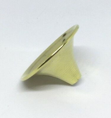 Brass Powder Funnel 38mm diameter, 21mm long, 7mm wide base - made by Tedd Cash