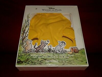 NEW Disney Baby Infant Winnie The Pooh Bear Coverall Footie Giftbox set 0-3 Mths