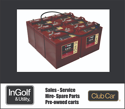 Club Car Golf Cart Golf Buggy 6 x 8v (48v) Battery Trojan T875.