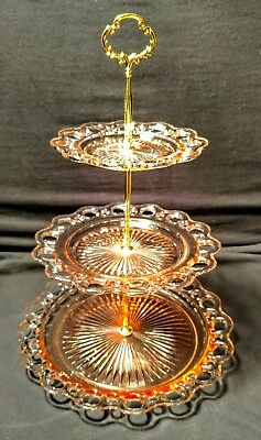 Old Colony Open Lace 3 tier tidbit tray