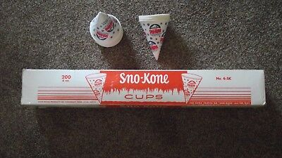 200 Sno-Kone Cups 6 oz. Gold Medal Products Brand Sno Cone
