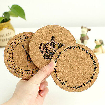 Cork Wood Drink Coaster Tea Coffee Cup Mat Pad Kitchen Table Decor Placemat EF