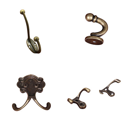Vintage Clothes Hat Coat Bags Antique Zinc Alloy Wall Door Hooks Hangers 1pc DIY