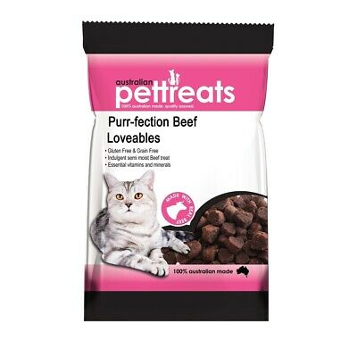 Purr-fection Australian Beef Lovables Semi-Moist Cat Treats - 80g