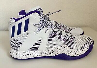 e6ca99b52 Adidas Crazy Bounce Men s Basketball Sport Shoes Sneakers Size 16  White Purple