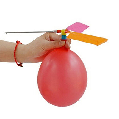 Kids  Balloon Helicopter Flying Kit Party Bag Filler Indoor Outdoor Toy YA
