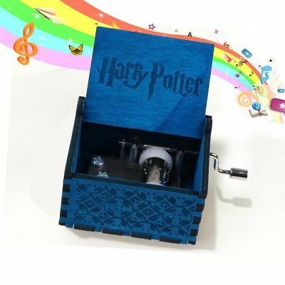 Harry Potter Hand-cranked Engraved Wooden Music Box Fun Kids Toys Xmas Gifts New