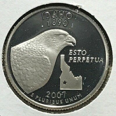 2007-S State Quarter Silver Proof Idaho ID