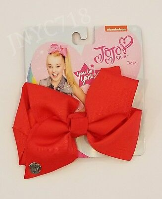 BRAND NEW JoJo Siwa Authentic Medium Hair Clip Bow Solid Red