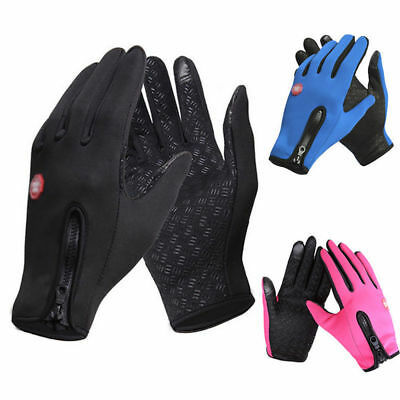 Touch Screen Winter Thermal Warm Gloves Bike Bicycle Cycle Windproof Windstopper
