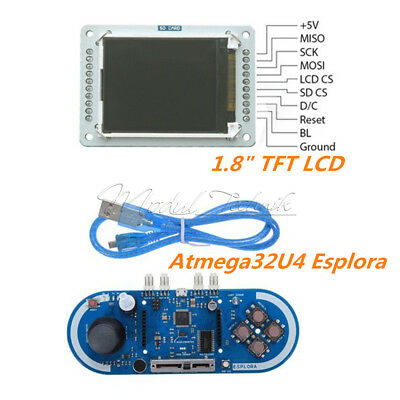 "1.8"" inch 128x160 TFT LCD For Atmega32U4 5V Esplora  Joystick Game Programming M"