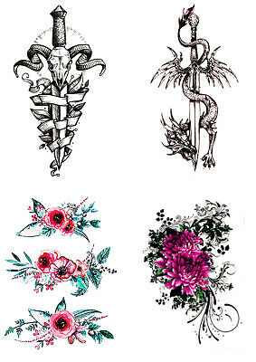 High Quality Supreme Temporary Fake Tattoo Sticker Free International Delivery