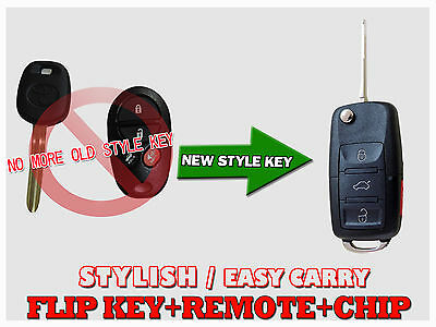 NEW Style Flip Key Remote fob 4 Buttons For Toyota Aurion Kluger ATX FRT41