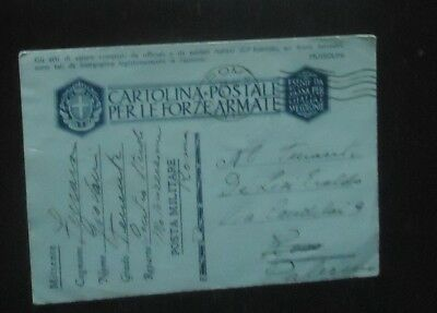 Italy Ww2 Military Mail Ppe Postal Card Coverppe Mussolini Cds Roma