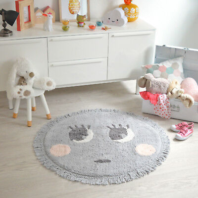 tapis lavable pour chambre d 39 enfants et b b chat noir et blanc nattiot eur 69 50. Black Bedroom Furniture Sets. Home Design Ideas