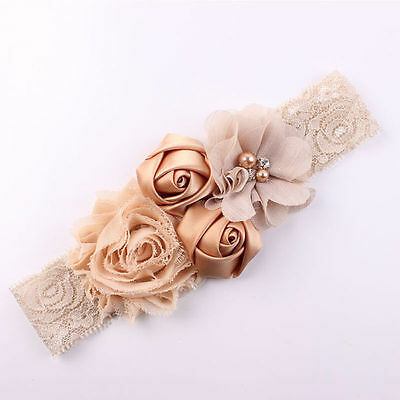 GN- Lace Flower Design Hairband Turban Headwear For Newborn Hair Accessories Nov