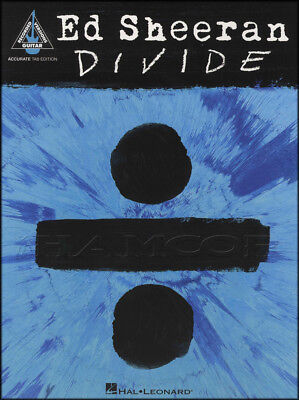 Ed Sheeran Divide Guitar TAB Music Book Castle on the Hill Eraser Shape of You