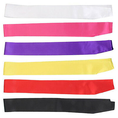 GN- Make Your Own Blank Sash Plain Satin Ribbon for Birthday Party Pageant Vendi