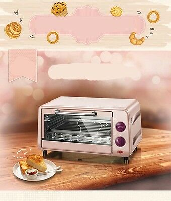 9L Mini Home Commercial Pink Multi-function Heating Benchtop Electric Oven *
