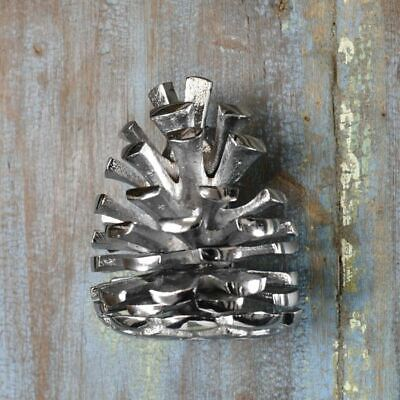 Bright Chrome Pine Cone Door Knocker - Supplied With Fixings