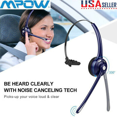 Mpow Pro Bluetooth Headset For Car/Truck Driver Wireless Headphones With Mic US