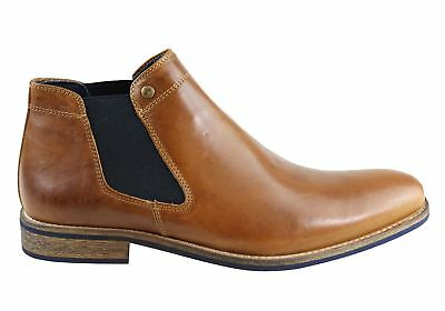 New Wild Rhino Drake Mens Leather Chelsea Dress Boots Made In Portugal