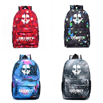 Cool Call of Duty Ghosts Backpack Ghost Sign School Bag Travel Bag 4 Colors
