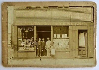 "Antique Photograph: Storefront ""Quick Lunch"" ""Tonics On Ice"" - Late 1800's"
