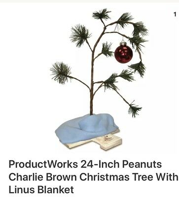 New in box NIB  24-Inch Peanuts Charlie Brown Christmas Tree With Linus Blanket