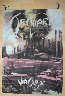 Obituary, World Demise, Fahne, Flagge, Banner, 1993, rar, rare