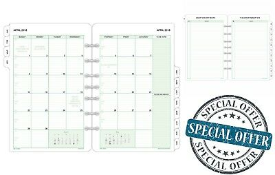 """Day-Timer Refill 2018 Two Page Per Month Planner Weekly Refills 5-1/2"""" x 8-1/2"""""""