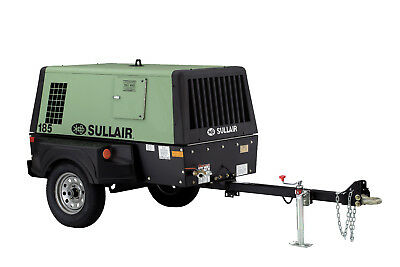 Sullair 185 CFM Portable Diesel Air Compressor- Tier 4 Final DPQ L/F | 185T4F
