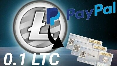 0.1 Litecoin LTC Paper Wallet SAFEST WAY TO HOLD Crypto Currency Coin MAILED