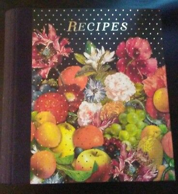 "Paperchase Dark Romance Recipe File Ring Binder, 9.6"" x 9.4"" x 7.8"""