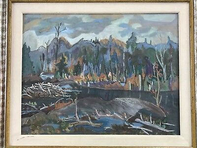 Canadian Painting Sidney Charles Mooney Little River 1985