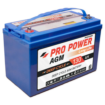 130Ah 12V Agm Sealed Deep-Cycle Rechargeable Battery Caravan 4Wd Marine