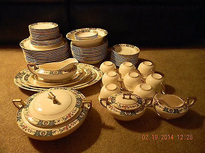 71 pieces vintage Homer Laughlin dinner/coffee/tea dishes set