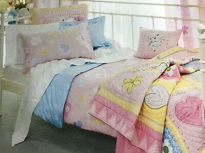 Freckles Heart and Flowers baby girl cot doona quilt cover set rrp $60 NEW
