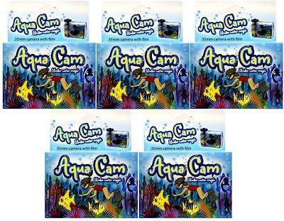 5 Aqua Cam Underwater Disposable Camera Waterproof Single Use 35mm Holiday Fun