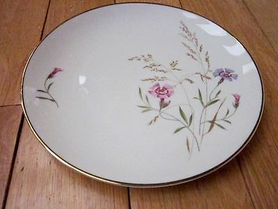 Antique HUTSCHENREUTHER SELB Gold Rim Cake/Salad Plate-Pink Flowers-Stamp #8324