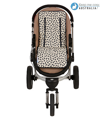 Keep Me Cosy™  cotton Pram Liner Universal fit Reversible - Navy Boat