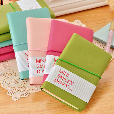 PU Leather Portable Notebook Pocket Diary Memo Notepad Journal Planner Note Pad